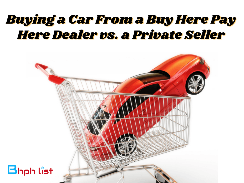 Buy Here Pay Here Dealer